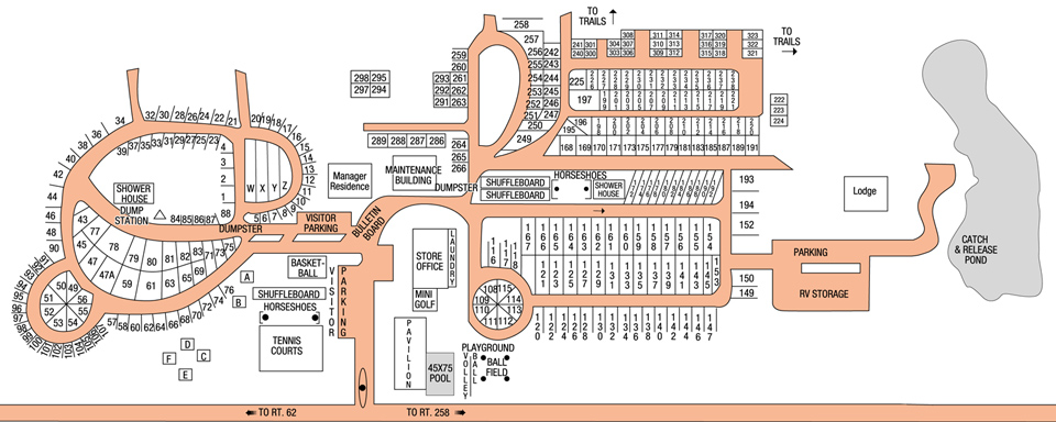 RV Village Site Map